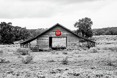 Photograph - Coca Cola Barn - Selective Color by Scott Pellegrin