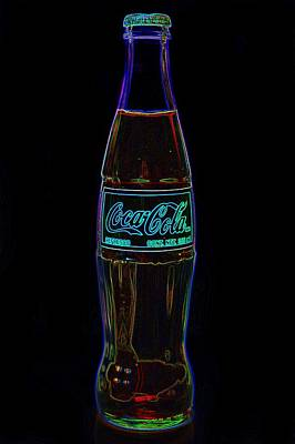 Photograph - Coca Cola Black Neon by Terry DeLuco