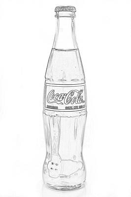 Photograph - Coca Cola Black Outline On White  by Terry DeLuco