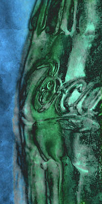 Photograph - Coca Cola Blue Green by WB Johnston