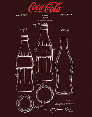 Mixed Media - Coca Cola Bottle Design by Dan Sproul
