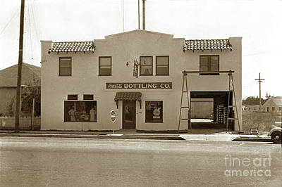 Photograph - Coca-cola Bottling Co. 251 W. Market, Salinas Circa 1955  by California Views Archives Mr Pat Hathaway Archives