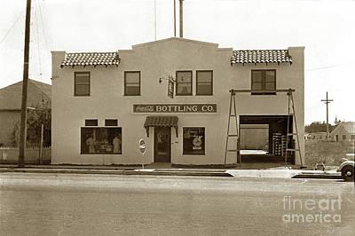 Photograph - Coca-cola Bottling Co. 251 W. Market, Salinas Circa 1955  by California Views Mr Pat Hathaway Archives