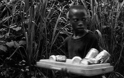 Photograph - Coca-cola Cans Seller by Muyiwa OSIFUYE