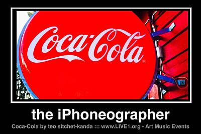 Photograph - Coca-cola by Teo SITCHET-KANDA