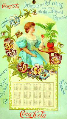 Digital Art - Coca Cola Calendar 1898 by Steven Parker