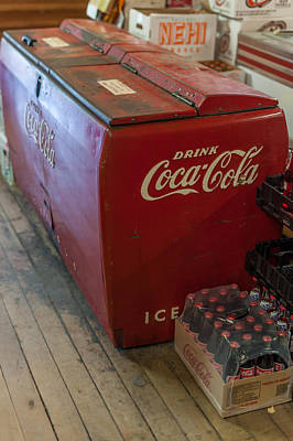 Coca-cola Antique Ice Chest Photograph - Coca-cola Chest Cooler General Store by Terry DeLuco