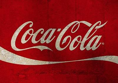 Coca-cola Signs Mixed Media - Coca Cola Concrete Wall by Dan Sproul