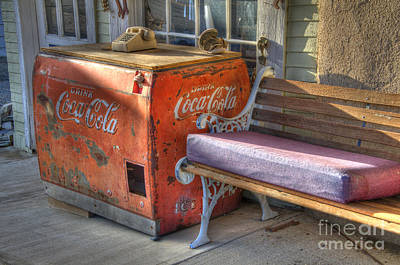 Coca Cola Cooler Back In Time Art Print by Bob Christopher