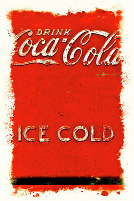 Coca-cola Signs Photograph - Coca-cola Cooler by Stephen Anderson