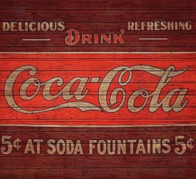 Coca Cola Graphic Barn Door Art Print