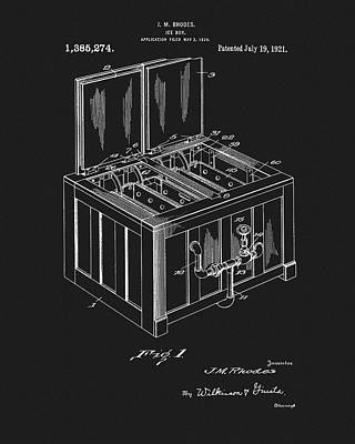 Mixed Media - Coca Cola Ice Box Patent by Dan Sproul