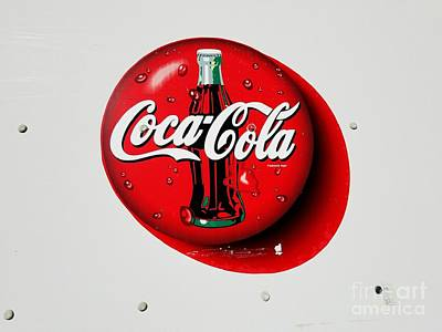 Bottling Company Photograph - Coca Cola Iconic Button Logo  by Scott D Van Osdol