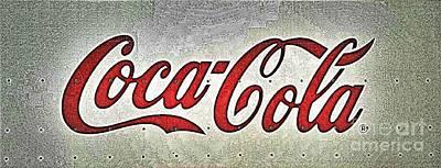 Bottling Company Photograph - Coca Cola Iconic Logo - Steel Abstract by Scott D Van Osdol