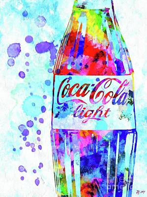 Mixed Media - Coca Cola Light by Daniel Janda