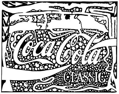 Maze Ads Drawing - Coca-cola Maze Advertisement  by Yonatan Frimer Maze Artist