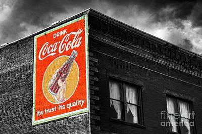 Coca-cola Signs Photograph - Coca Cola Memorbelia 7 by Bob Christopher