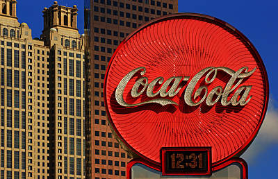 Coca Cola Neon Sign Atlanta Art Print