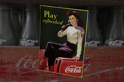 Coca-cola Signs Mixed Media - Coca Cola Play Refreshed Signage by Thomas Woolworth