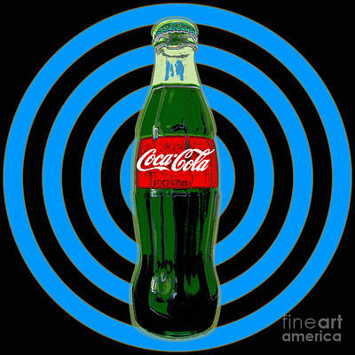 Digital Art - Coca Cola Pop Art by Jean luc Comperat