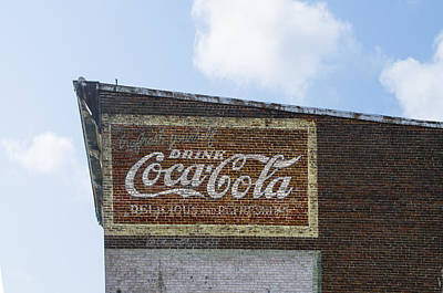 Coca-cola Signs Photograph - Coca Cola Sign - Front Royal Virginia by Bill Cannon