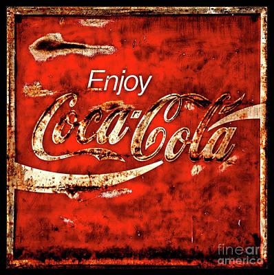 Music Figurative Potraits -  Coca Cola Square Soft Grunge by John Stephens