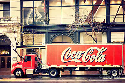 Coca-cola Truck In San Francisco Art Print