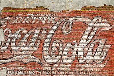 Photograph - Coca Cola Vintage Mural by Steven Bateson