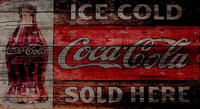 Coca-cola Signs Mixed Media - Coca Cola Vintage Sign by Brian Reaves
