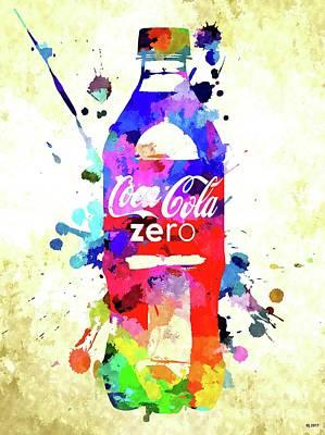 Mixed Media - Coca Cola Zero by Daniel Janda