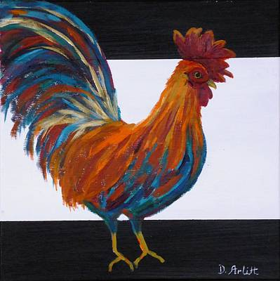 Painting - Cock-a-doodle-doo by Diane Arlitt