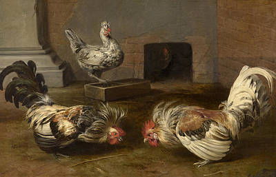 Frans Snyders Painting - Cock Fight by Frans Snyders