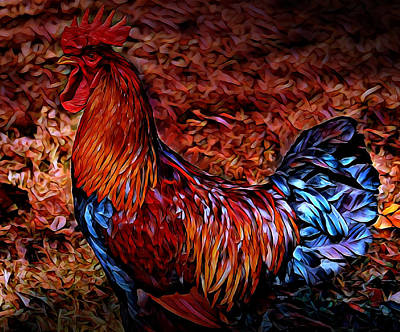 Cock Rooster Art Print