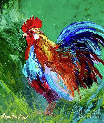 Animals Paintings - Rooster by Laura Bird Miller