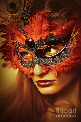 Photograph - Cockatoo Mask Venetian Eye Masks by Dimitar Hristov
