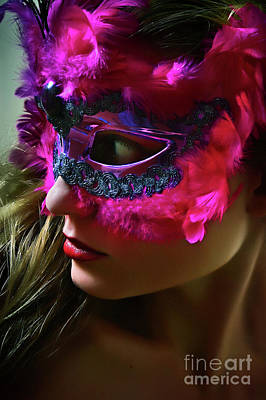 Photograph - Cockatoo Venetian Mask II Eye Mask by Dimitar Hristov