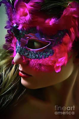 Photograph - Cockatoo Venetian Mask II Eye Mask by Dimitar Hristov