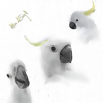 Cockatoo Mixed Media - Cockatoos by iMia dEsigN