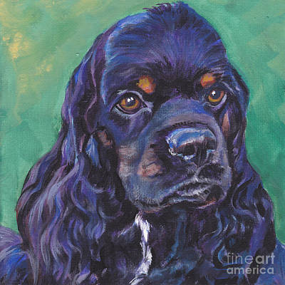 Cocker Spaniel Head Study Art Print by Lee Ann Shepard