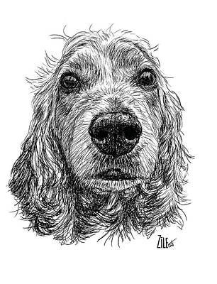 Digital Art - Cocker Spaniel @jose.ga by ZileArt