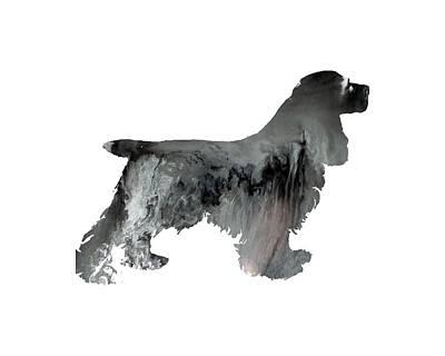 Black Cocker Spaniel Painting - Cocker Spaniel by Mordax Furittus