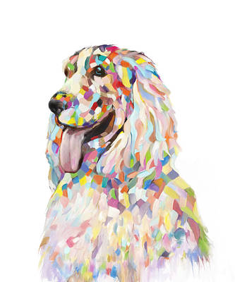 Painting - Cocker Spaniel Painting by Enzie Shahmiri