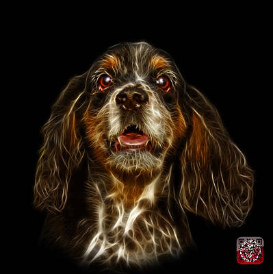 Art Print featuring the mixed media Cocker Spaniel Pop Art - 8249 - Bb by James Ahn