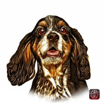 Cocker Spaniel Pop Art - 8249 - Wb Art Print