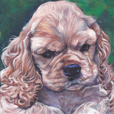 Cocker Spaniel Painting - Cocker Spaniel Puppy by Lee Ann Shepard