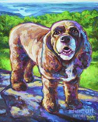Painting - Cocker Spaniel  by Robert Phelps