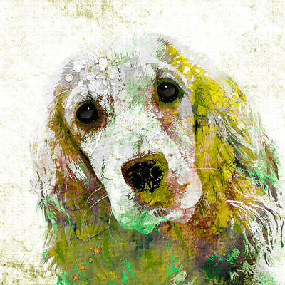 Puppy Mixed Media - Cocker Spaniel by Stacey Chiew