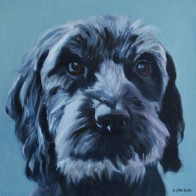Wall Art - Painting - Cockerpoo by Alison Stafford