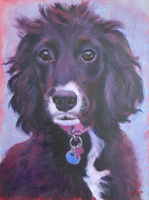 Wall Art - Painting - Cockerpoo Portrait by Alison Stafford