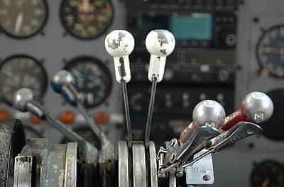 Cockpit Photograph - Cockpit Controls by Dan Holm